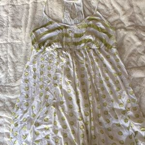 Babydoll Gown - Green/White